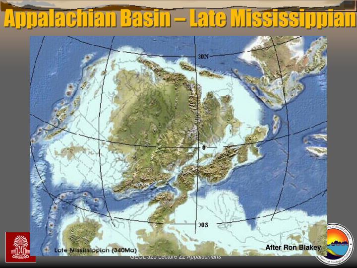 Appalachian Basin – Late Mississippian
