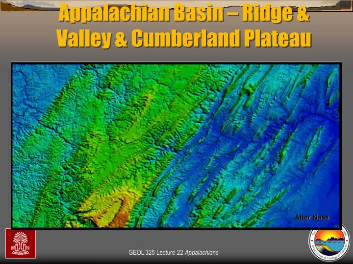 Appalachian Basin – Ridge & Valley & Cumberland Plateau