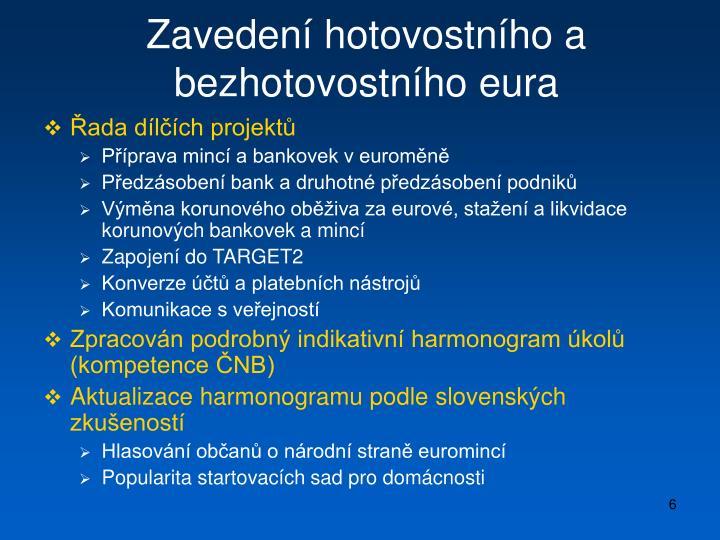 Zavedení hotovostního a bezhotovostního eura