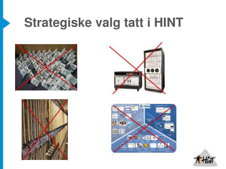 Strategiske valg tatt i HINT