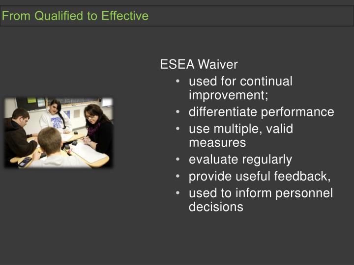From Qualified to Effective