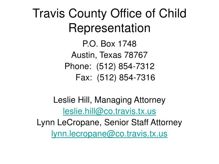 Travis County Office of Child Representation
