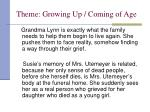 theme growing up coming of age