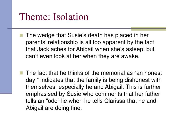 Theme: Isolation
