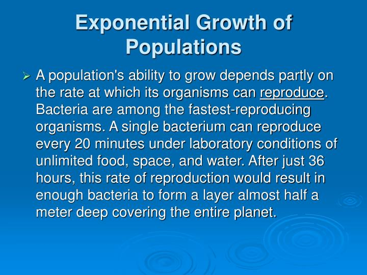 Exponential Growth of Populations