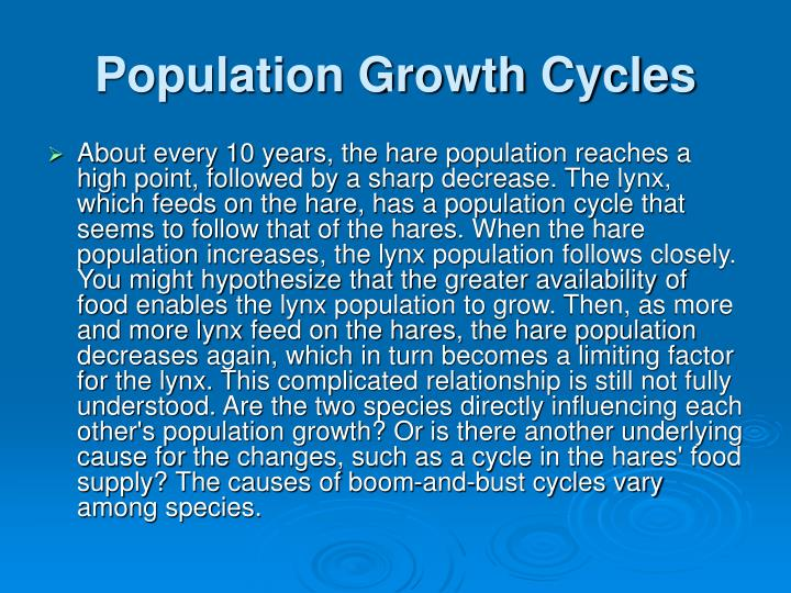 Population Growth Cycles