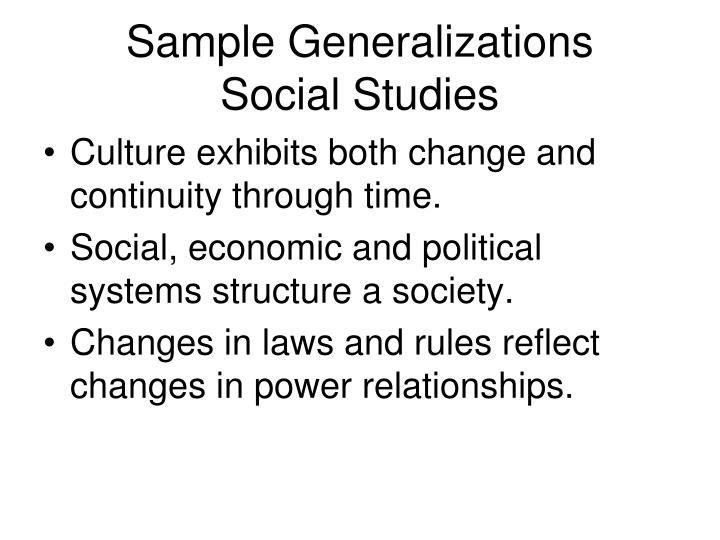 Sample Generalizations