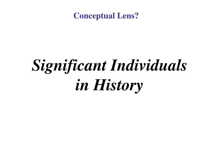 Conceptual Lens?