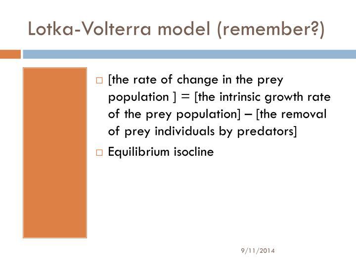 Lotka-Volterra model (remember?)