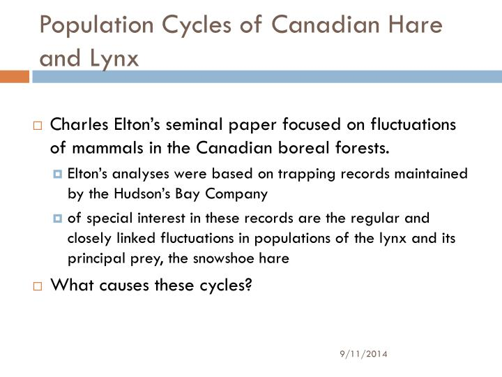 Population Cycles of Canadian Hare and Lynx