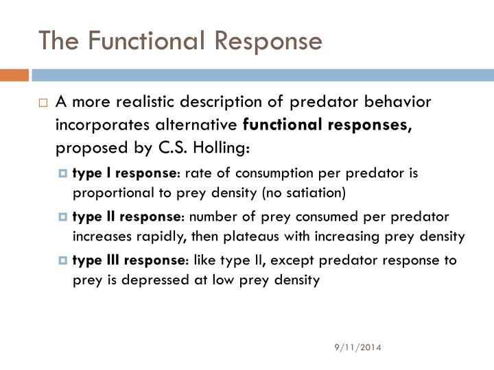 The Functional Response