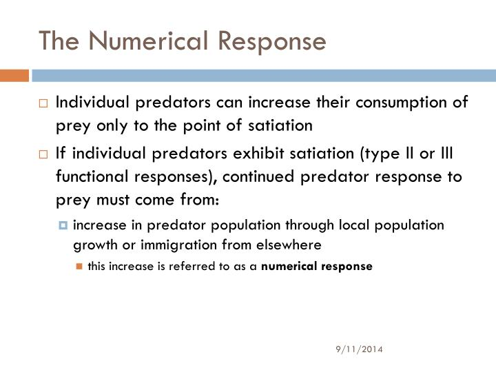 The Numerical Response