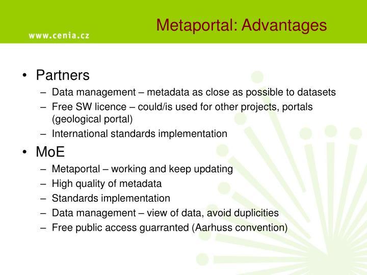 Metaportal: Advantages