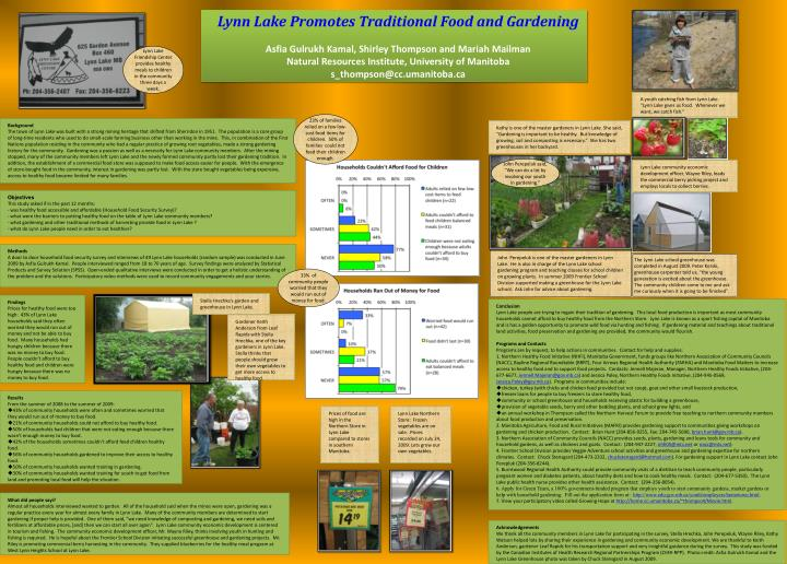 Lynn Lake Promotes Traditional Food and Gardening