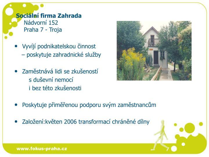Sociální firma Zahrada