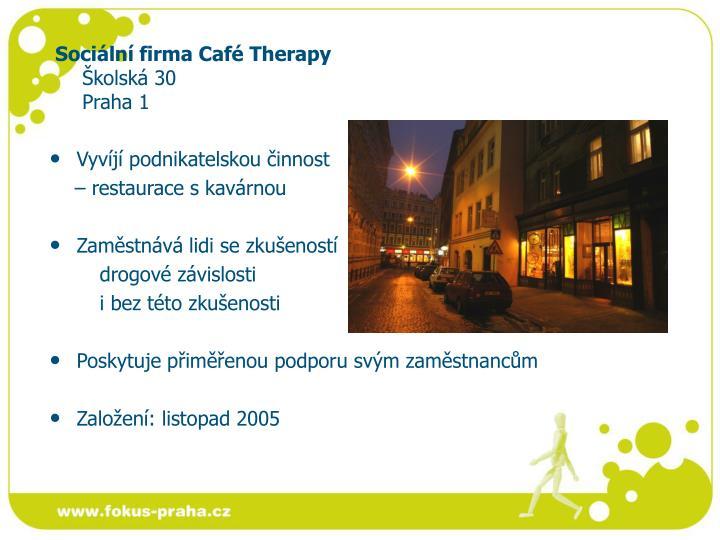 Sociální firma Café Therapy