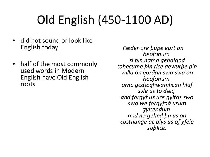 Old english 450 1100 ad