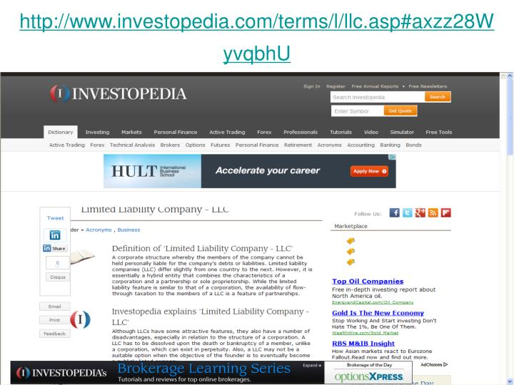 http://www.investopedia.com/terms/l/llc.asp#axzz28WyvqbhU