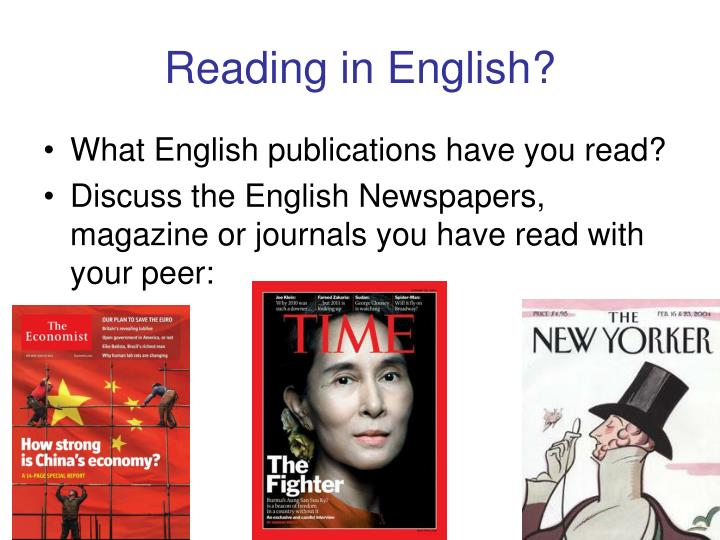 Reading in English?