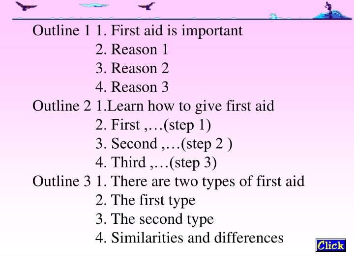 Outline 1 1. First aid is important