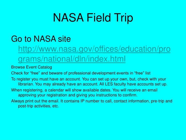 NASA Field Trip