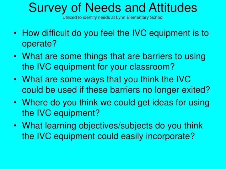 Survey of Needs and Attitudes