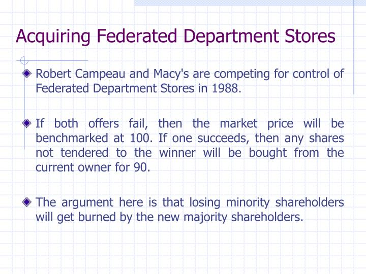 Acquiring Federated Department Stores