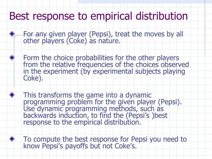 Best response to empirical distribution