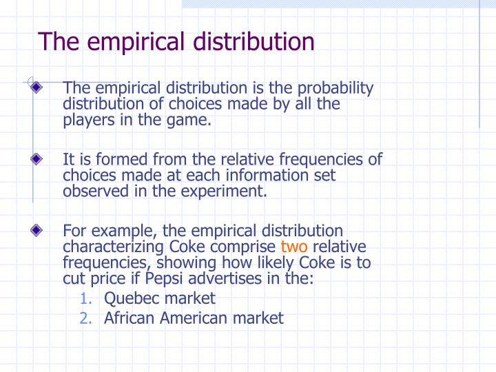 The empirical distribution
