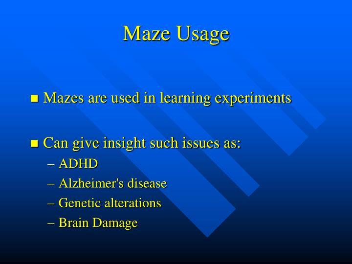 Maze Usage