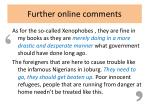 further online comments