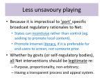 less unsavoury playing