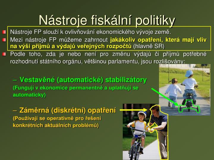 Nástroje fiskální politiky