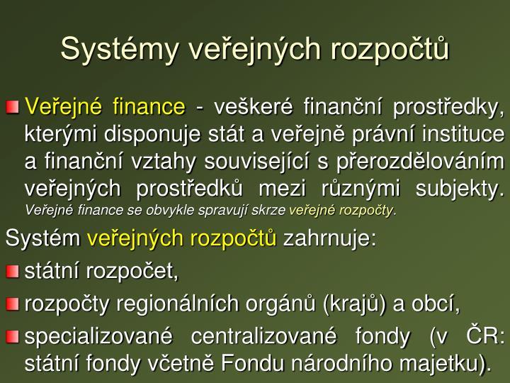 Systémy veřejných rozpočtů