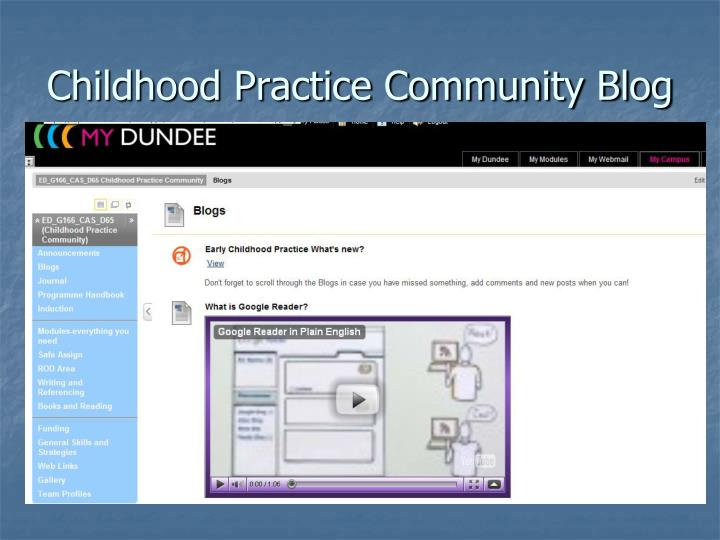 Childhood Practice Community Blog