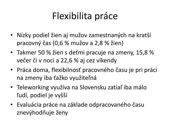 Flexibilita práce