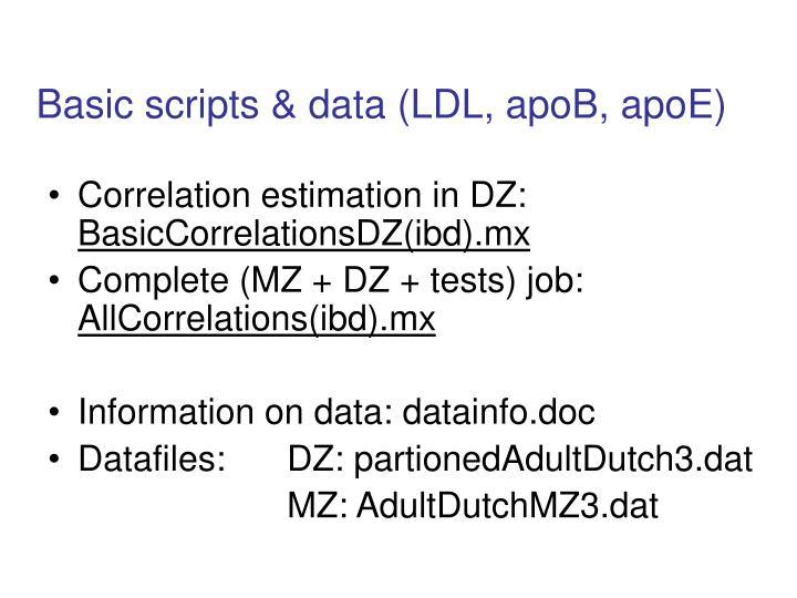 Basic scripts & data (LDL, apoB, apoE)