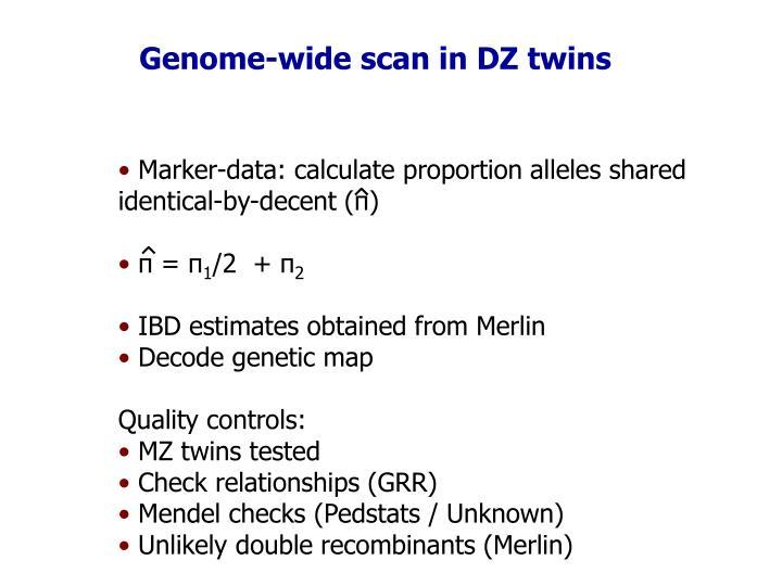Genome-wide scan in DZ twins