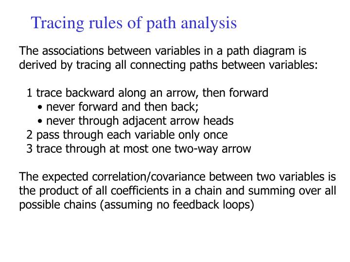 Tracing rules of path analysis