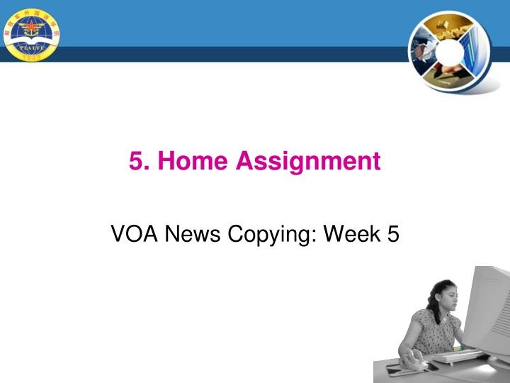 5. Home Assignment