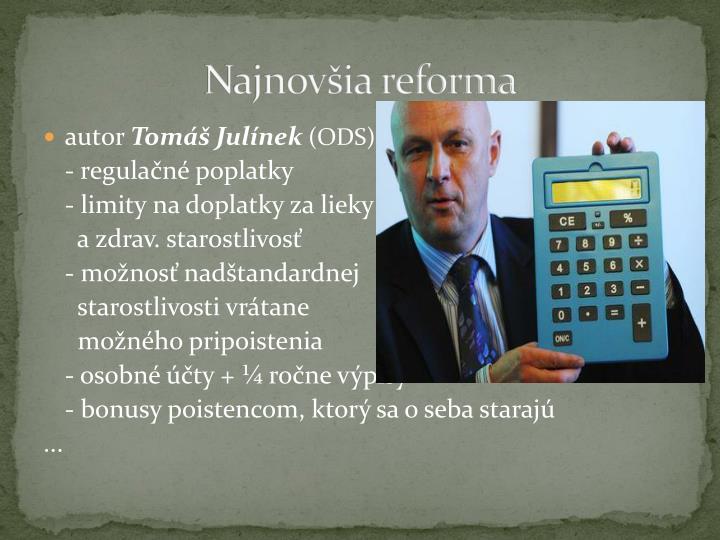 Najnovšia reforma