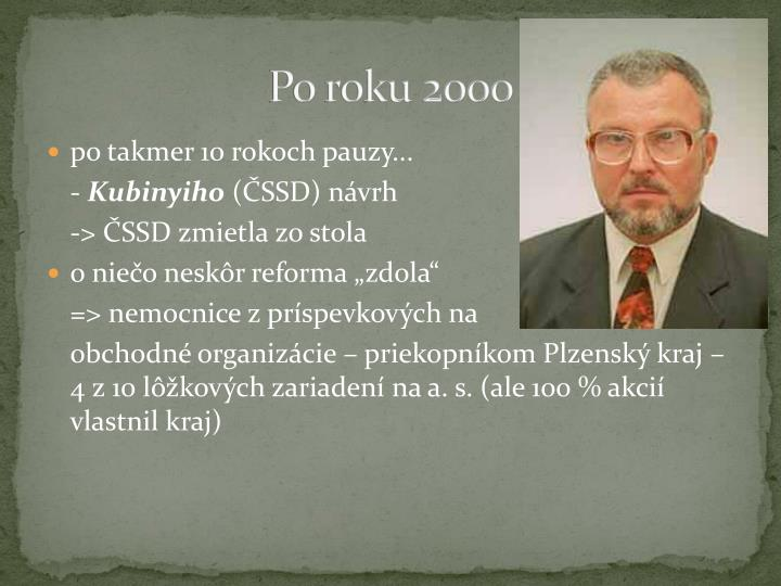 Po roku 2000