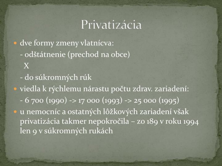 Privatizácia
