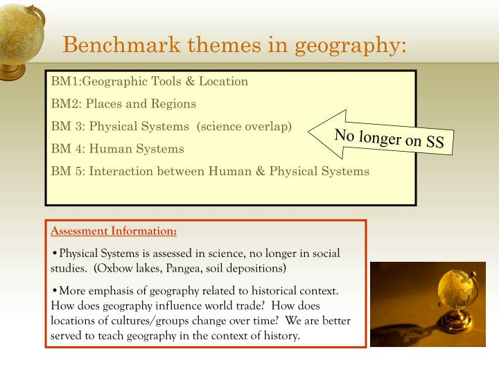 Benchmark themes in geography: