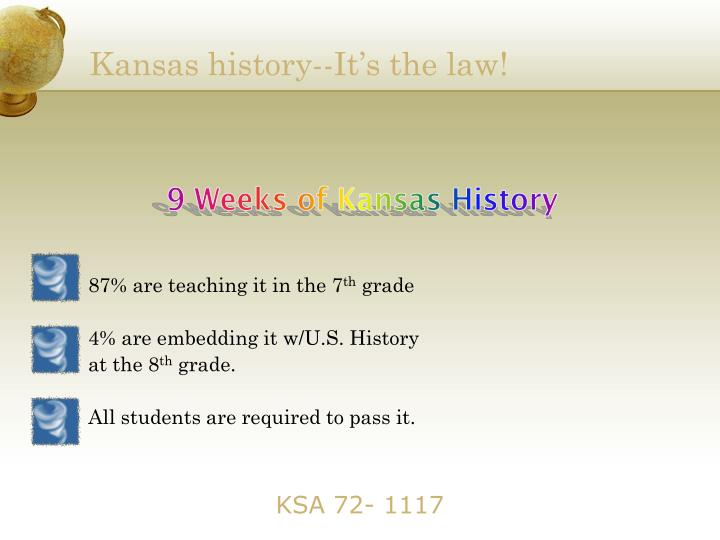 Kansas history--It's the law!