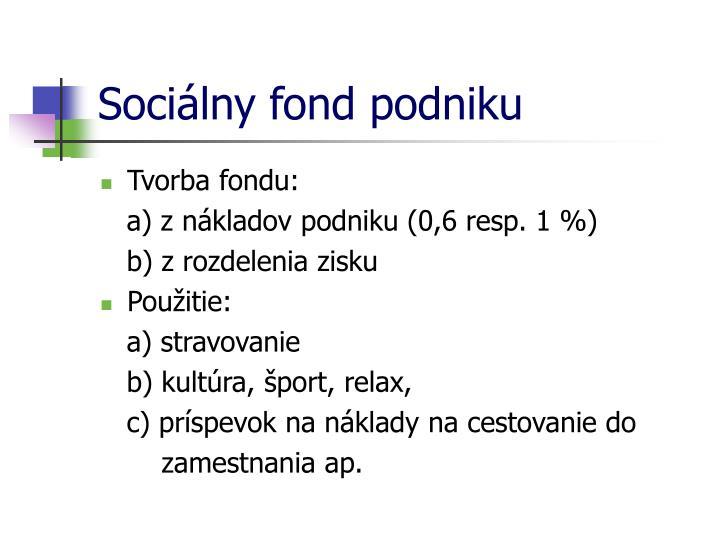 Sociálny fond podniku