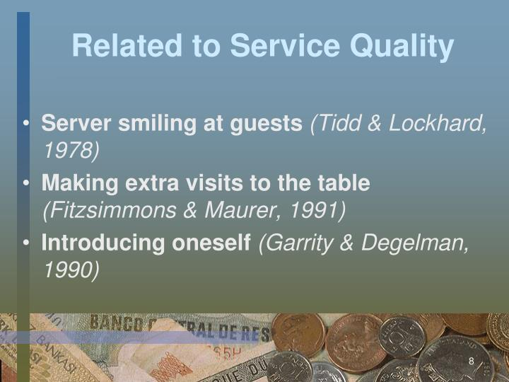 Related to Service Quality