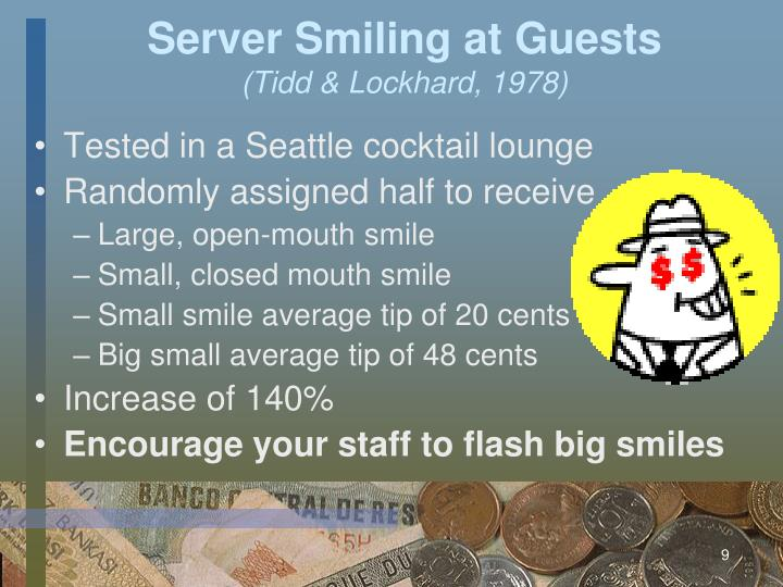 Server Smiling at Guests