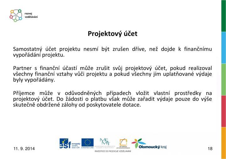Projektový účet