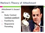 harlow s theory of attachment